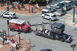 Word on the street: Work ends on Loomis Fargo movie production in Asheville
